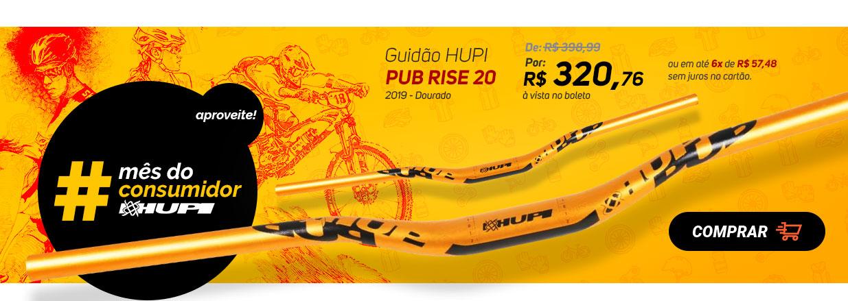 Guidão HUPI Pub Rise 20 2019 - Dourado