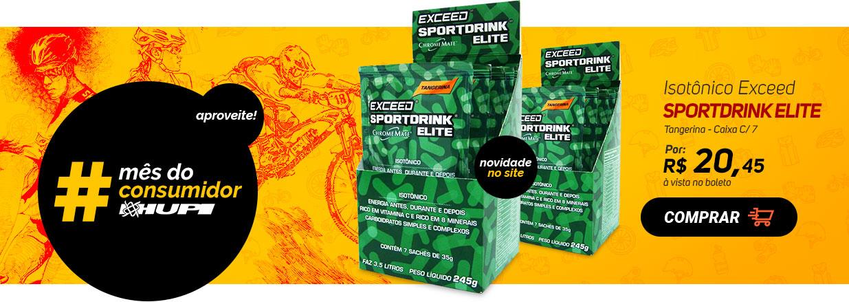 Isotônico Exceed Sportdrink Elite Tangerina - Caixa C/ 7