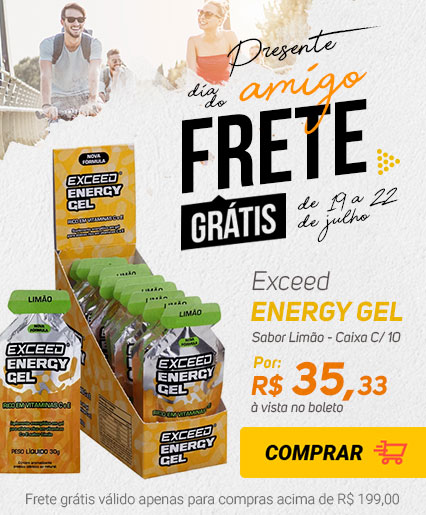 Exceed Energy Gel Sabor Limão - Caixa C/ 10