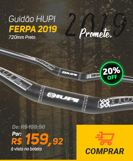 Guidão HUPI Ferpa 2019 720mm Preto