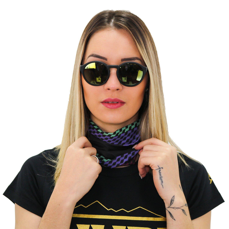 Bandana HUPI - Preto/Cinza/Roxo