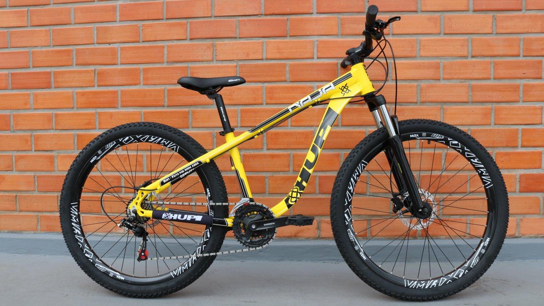 """Bicicleta HUPI Naja 27.5"""" Hidráulica V7 Amarela"""