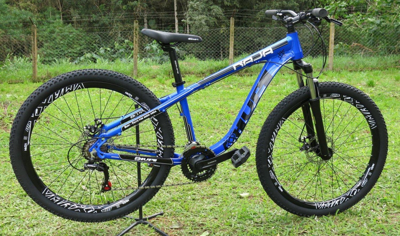 """Bicicleta HUPI Naja 27.5"""" Mecânica 2019 Azul"""