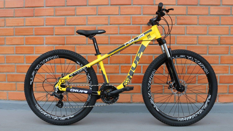 """Bicicleta HUPI Naja One 27.5"""" V7 Amarela"""