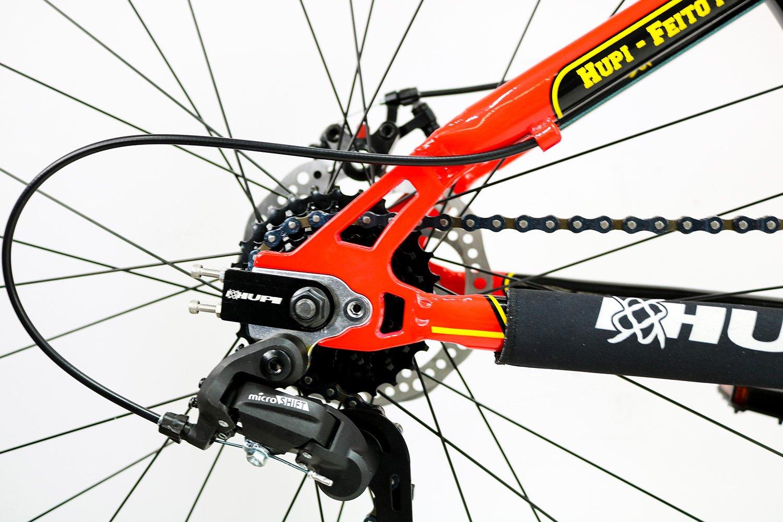"""Bicicleta HUPI Naja One Aro 27.5"""" Freio Mecânico V7 Vermelha"""