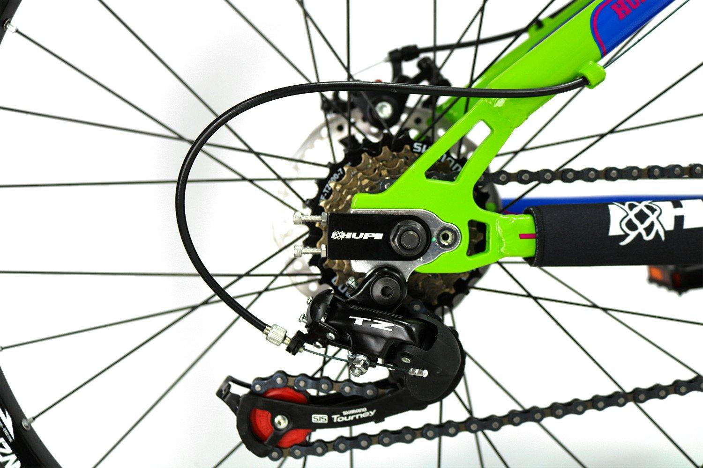 """Bicicleta HUPI Naja Shimano Aro 26"""" Freio Mecânico V7 Verde"""