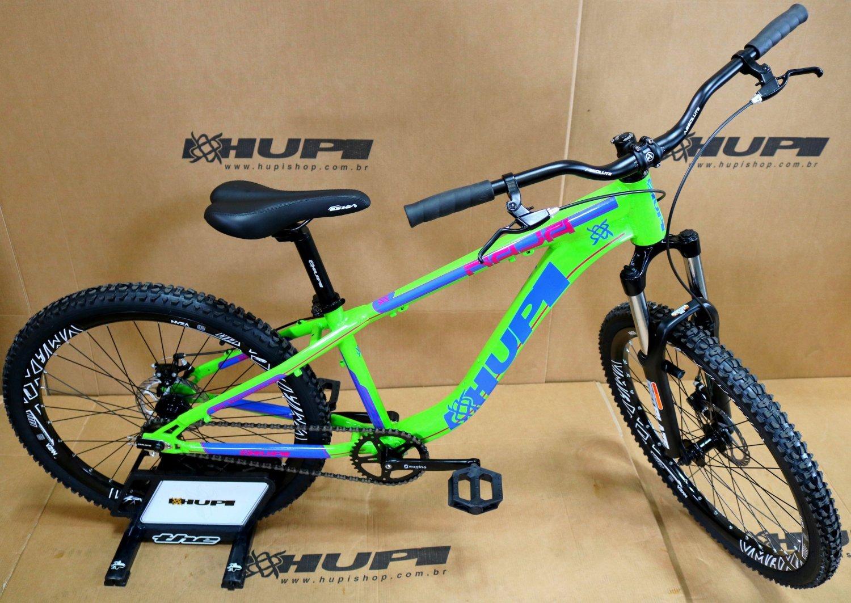 Bicicleta HUPI Naja Single Speed Mecânica Verde