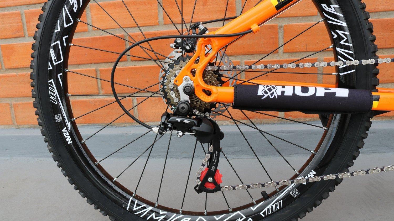 "Bicicleta HUPI Whistler 27.5"" Mecânica V5 Alaranjada"