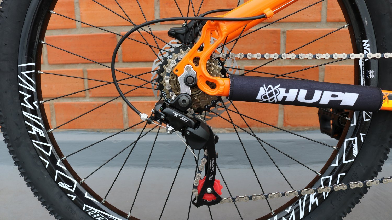 Bicicleta HUPI Whistler Hidráulica V5 Alaranjada