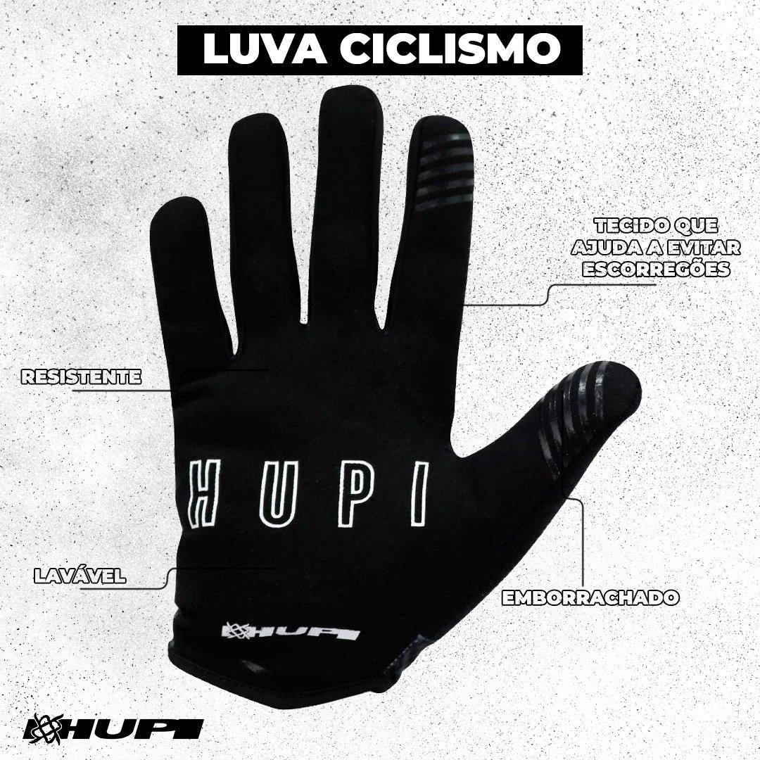 Luva Ciclismo HUPI Dedo Longo Maps