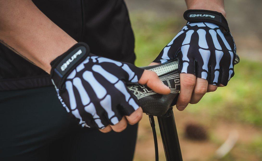 Luva Ciclismo HUPI Eco Dedo Curto Bones