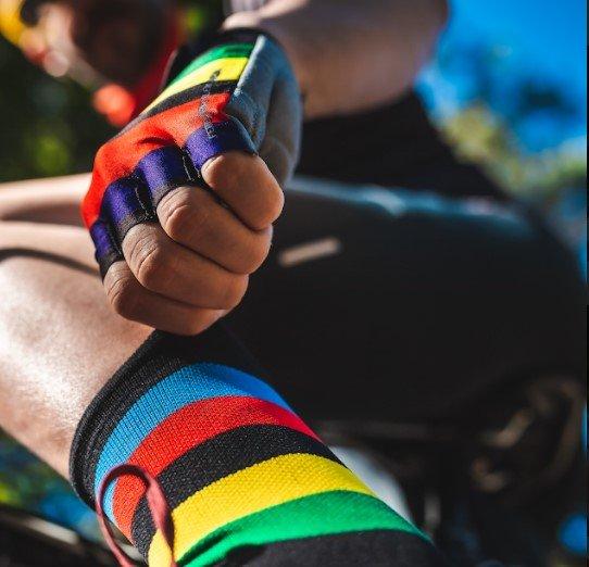 Luva Ciclismo HUPI Eco Dedo Curto Champs