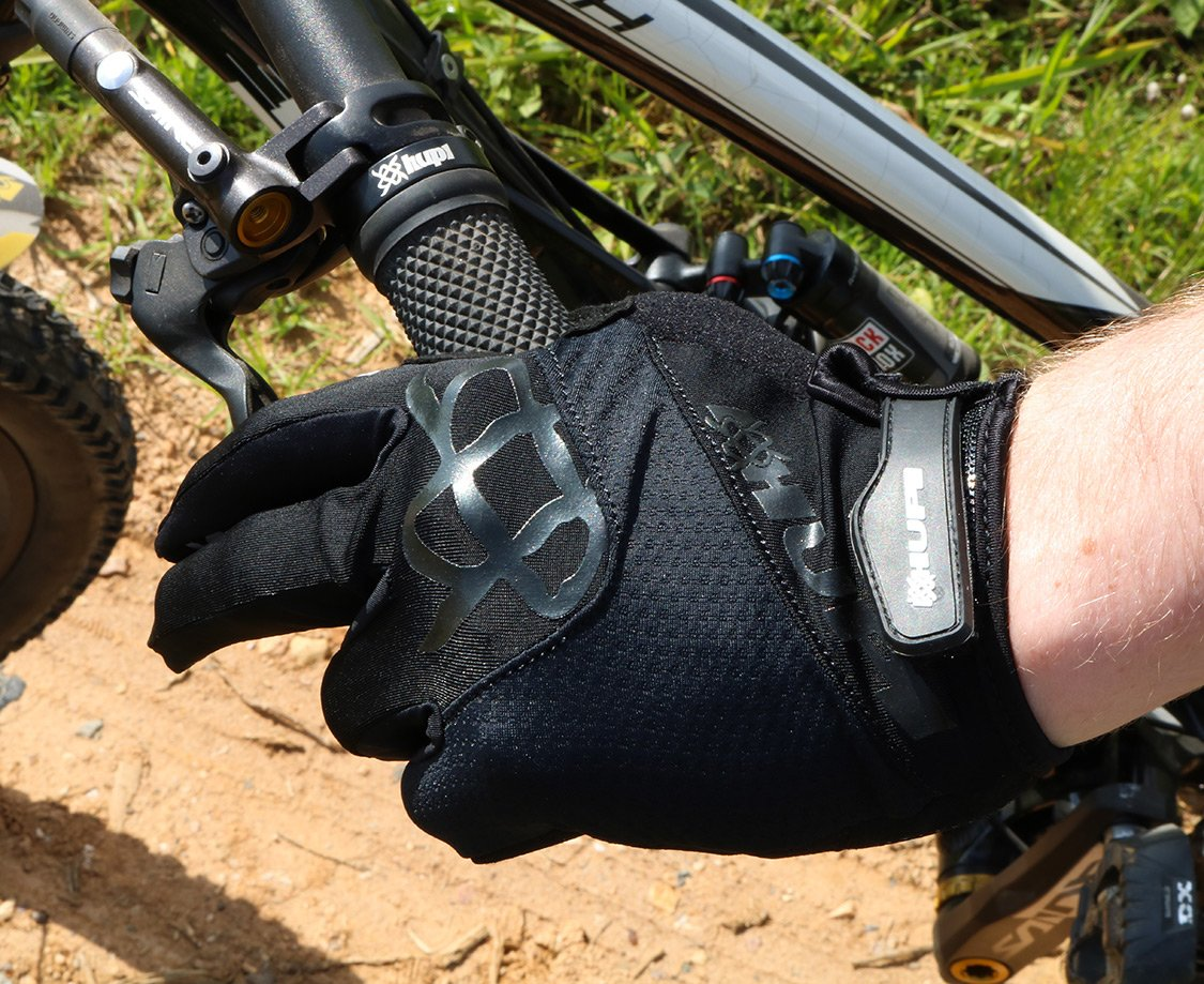 Luva Ciclismo HUPI Dedo Longo All Black