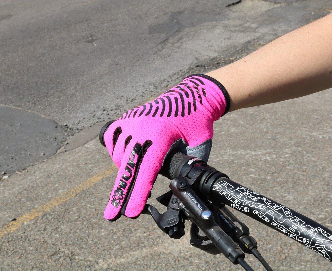 Luva Ciclismo HUPI Dedo Longo Biometria Full Rosa