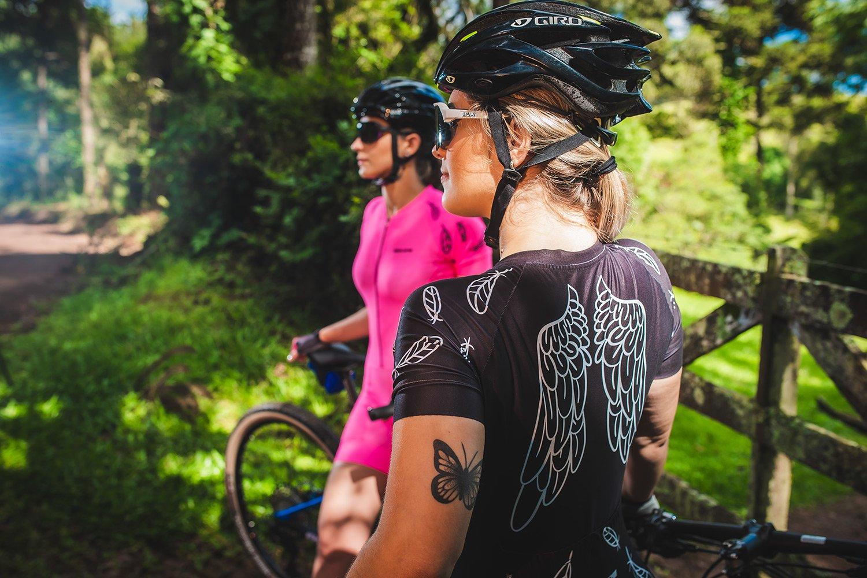 Macaquinho Ciclismo Feminino HUPI Asas Preto