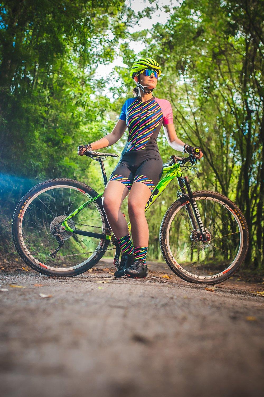 Macaquinho Ciclismo Feminino HUPI Guache