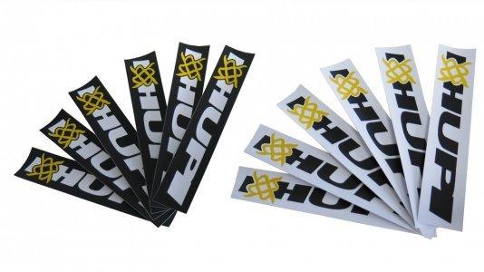 12 Adesivos HUPI - 6 Brancos e 6 Pretos
