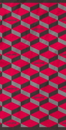 Bandana HUPI - Cinza/Rosa Cubes