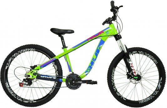 "Bicicleta HUPI Naja Shimano Aro 26"" Freio Hidráulico V7 Verde"