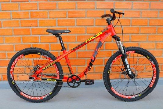 Bicicleta HUPI Naja Single Speed Mecânica Vermelha