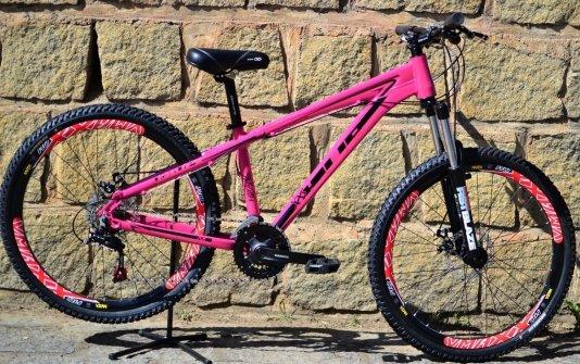 "Bicicleta HUPI Whistler 27.5"" Mecânica V5 Pink"
