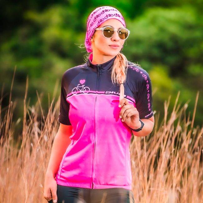 Camisa Ciclismo HUPI Rosa Love Bike