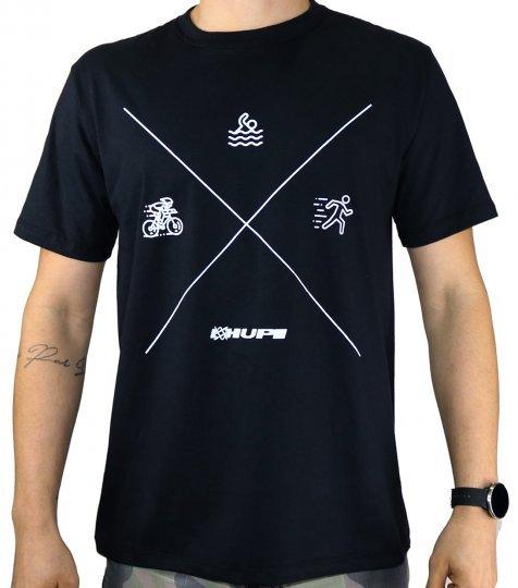 Camiseta Casual HUPI Triathlon Preto