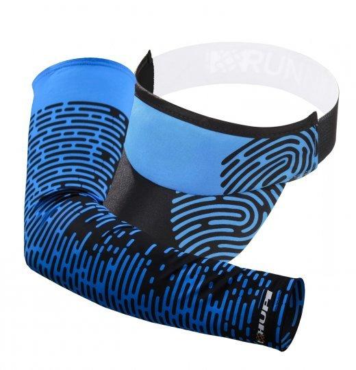 Kit corrida Manguito e Viseira Biometria - Azul