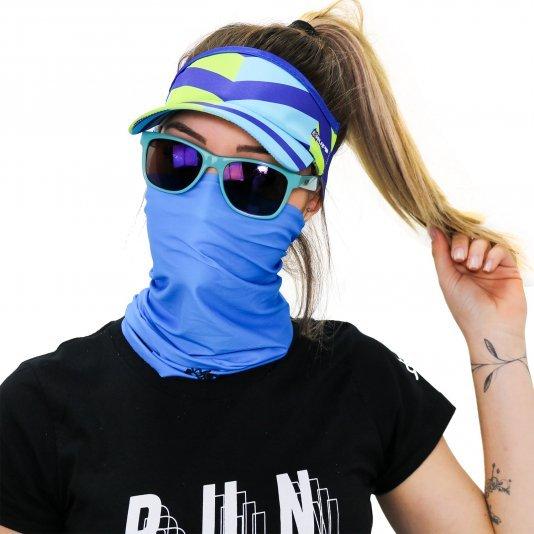 Kit Corrida Viseira e Bandana - Azul