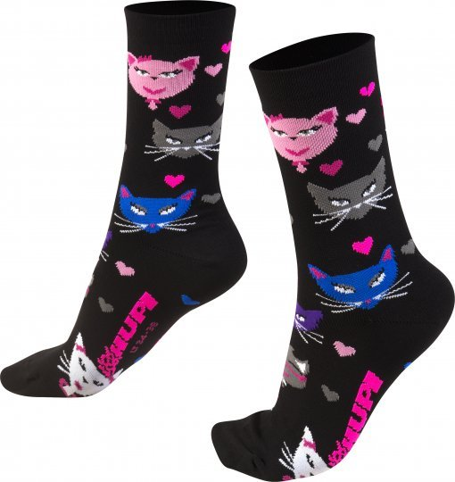 Meia HUPI Cats - LT para pés menores 34-38