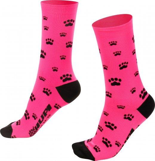 Meia para corrida ciclismo pés menores love pats rosa patinhas