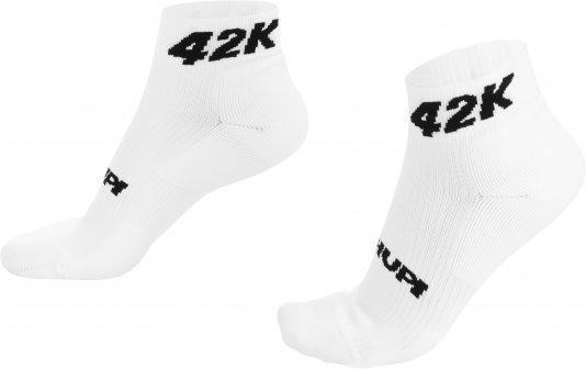 Meia Curta para Corrida HUPI - Running Pro  42K Branco