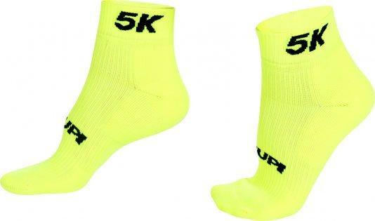 Meia para Corrida HUPI Running Pro 5K Amarelo Neon - Curta