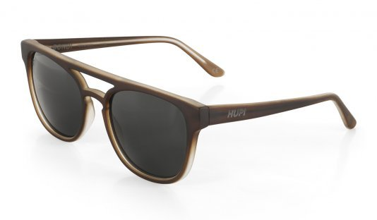 Óculos de Sol HUPI Bondi Marrom Fosco - Lente Preto