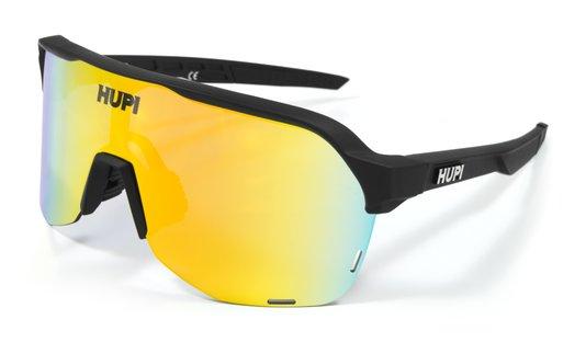 Óculos de Sol HUPI Huez Preto - Lente Dourado Espelhado