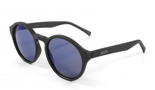 Óculos de Sol HUPI KONA Preto Fosco - Lente Azul Espelhado