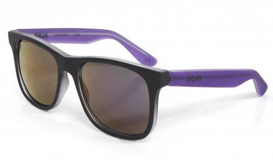Óculos de Sol HUPI Naja Infantil PretoFosco/Roxo - Lente Roxo Espelhado