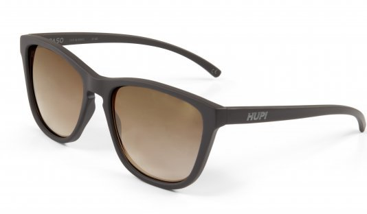 Óculos de Sol HUPI Paso Armação Café Lente Marrom Espelhado