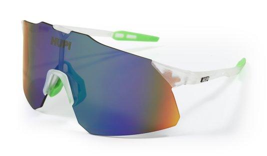 Óculos de Sol  HUPI Angliru Cristal/Verde - Lente Verde Espelhado