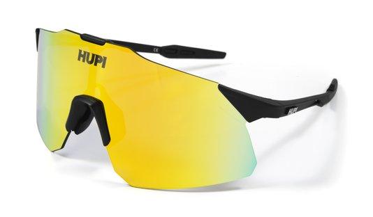 Óculos de Sol  HUPI Angliru Preto - Lente Dourado Espelhado