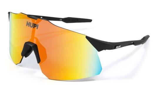 Óculos de Sol  HUPI Angliru Preto - Lente Vermelho Espelhado