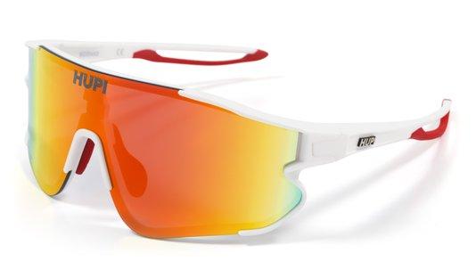 Óculos de Sol HUPI Bornio Branco/Vermelho - Lente Vermelho Espelhado