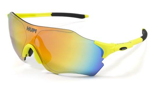 Óculos de Sol  HUPI Fuego Amarelo/Preto - Lente Amarelo Espelhado