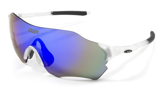Óculos de Sol  HUPI Fuego Cristal/Preto - Lente Azul Espelhado