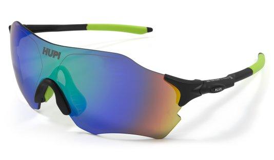 Óculos de Sol  HUPI Fuego Preto/Verde - Lente Verde Espelhado