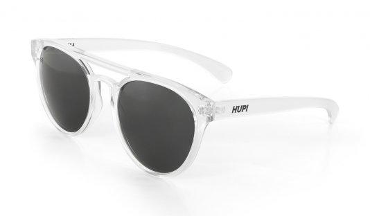 Óculos de Sol HUPI Furka Cristal Brilho - Lente Preto - para rostos GRANDES