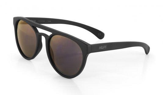 Óculos de Sol HUPI Furka Preto- Lente Roxo Espelhado - para rostos GRANDES