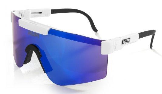 Óculos de Sol HUPI Maverick Branco/Preto - Lente Azul Espelhado