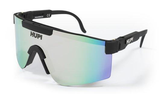 Óculos de Sol  HUPI Maverick Preto - Lente Prata Espelhado