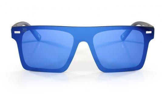Óculos de Sol Navajio HUPI Preto - Lente Azul Espelhado
